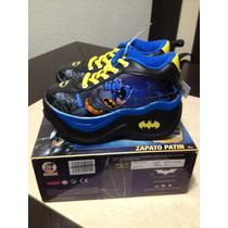 Zapato Patin Para Niño De Batman Totalmente Nuevos En Caja
