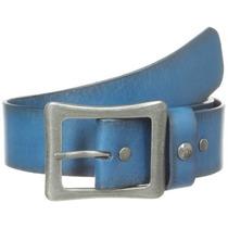 Cinturon Original Penguin Azul 100% Piel