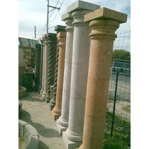 Columnas De Cantera Natural De 2.40 Mts Altura Y 20 Cm Diam
