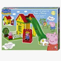 Parque Juegos Pappa Pig Y George Bloques Construccion 33pz