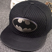 Gorra Importada Comics Logo Metalico-visera Piel Batman Logo