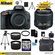 Nikon D5500 + 18-55mm + 2 Lentes + 11 Accesorios + 12 Meses