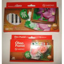 Paquete De Pinturas Al Oleo Y Colores Oleo Pastel.