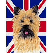 Cairn Terrier Con Inglés Union Jack Británica Bandera De L
