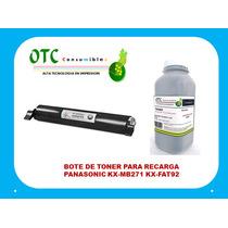 Bote De Toner Para Recarga Panasonic Kx-mb271 Kx-fat92