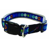 Collar De Perro - Hem Y Boo Azul Totalmente Ajustable Durabl