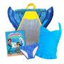 Cola De Sirena Paquete Bikini Mochila Monoaleta Libro Azul