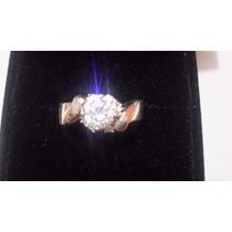 Anillo Zirconias Chapa De Platino Diamantes Compromiso