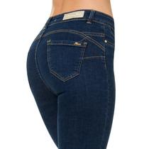* Furor Jeans De Mezclilla Dama Pink Slim Levanta Pompas