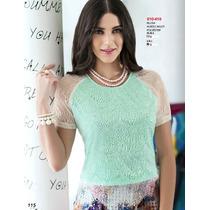 Blusa Elegante Ala Moda Con Encaje Vintage Casual Fashion