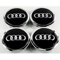 Centros De Rin Tapones Audi 4 Pzs Incluye Negros