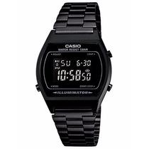 Reloj Casio Retro Vintage Negro Mate Pavonado Mod. B640w