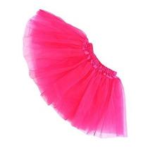 Hot Tulle Del Ballet Rosados ¿¿femeninos 3-capas Tutu Falda
