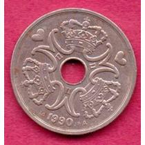 5 Coronas 1990 Reino De Dinamarca Reina Margarita Il