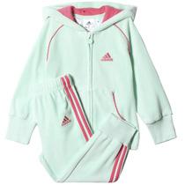 Conjunto Pants Con Sudadera Jogger Velour Bebe Adidas Ab6970