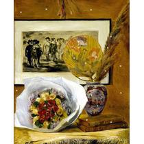 Lienzo Tela Auguste Renoir Naturaleza Muerta Ramo 50 X 65 Cm
