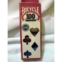 Fichas De Pocker Bicycle 50 Beige, 25 Rojas 25 Azules=100