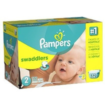 Pampers Pañales Swaddlers Tamaño 2 Paquete Gigante 132 Conde