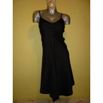 Vestido Marca Zara Basic Stretch Color Negro Talla Chica