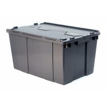 Caja De Plastico De Bisagras 60-32 Con Tapa 60 X 40 X 32