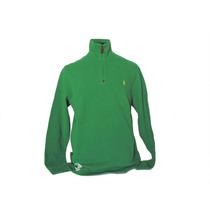 Suéter Ralph Lauren Medio Cierre Sweater Tejido - Talla M L