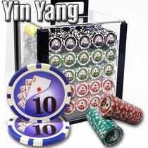 Poker Estuche Acril 1000 Fichas Casino 13.5 Gr Mod Ying Yang
