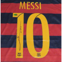 Jersey Autografiado Firmado Lionel Messi Barcelona 2016 Nike