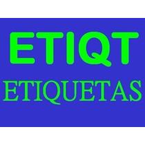 Etiqueta7 Autoadheribles 50mm X 15mm Blanca Impresa Mill