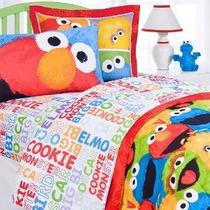 4pc Sesame Street Hoja De Cama Set Completo De Elmo Chalk Ac