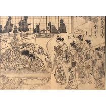 Masanobu Ukiyo-e Japon Sueño De Cortesanas Xilografia