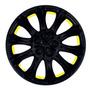 Tapón Polvera Negro Amarillo Para Rin 13 Mod 1221 Juego De 4