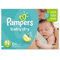 Pampers Baby Dry Pañales Súper Paquete Tamaño N 104 Conde