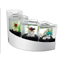 Pecera Aqueon Kit Betta Falls Blanco