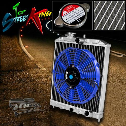 Radiador honda civic 1992 2000 aluminio y abanico color - Precio radiador aluminio ...