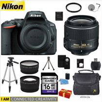 Nikon D5500 + 18-55mm + 2 Lentes Hd +11 Acc + Regalo + Bono