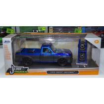 1:24 Chevrolet Cheyenne 1972 Azul Rines Extra Jada Toys