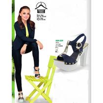 Zapatillas Plataformas Tacon Alto Grueso Sexy Ultima Moda