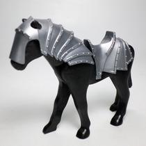 Playmobil Caballo Con Armadura Animal Medieval Retromex