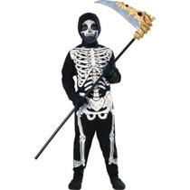 Disfraz Esqueleto - Niños Del Vestido De Lujo Traje Grande -