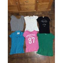 Lote 6 Blusas Camisas Aeropostale Hollister Talla S