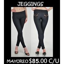Leggings Tipo Mezclilla / Jeggings Mayoreo Moda Dama Jeans