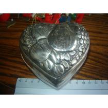 Corazon Caja Alhajero Joyero Metal Francia Decoracion Frutal