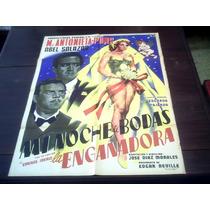 Poster Original Mi Noche De Bodas Maria Antonieta Pons 1955