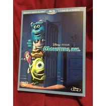 Monsters Inc. 2bluray/dvd Nueva Y Sellada Disney Pixar