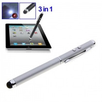 3 En 1 Tactil Stylus + Apuntador Laser + Lampara Led / Au1