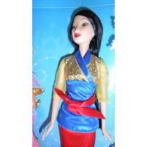 Coleccion D Barbie Princesas Disney Mulan Bella Jasmin Ariel