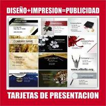 1000 Tarjetas De Presentacion Barniz Uv $125 Frente Imprenta