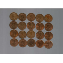 20 Monedas / 1 Centavo De Dólar / 60s,70s,80s,90s,00s / Lote