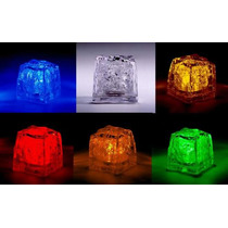 14.99 C/u 12 Hielos Luminosos Luz Led Sumergibles V. Colores