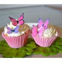 5 Mariposas Comestibles Obleas Decoracion Cupcakes Pasteles